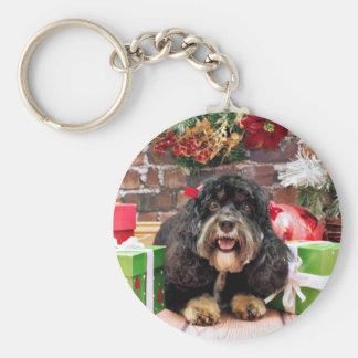 Christmas - Cockapoo - Sadie Keychain