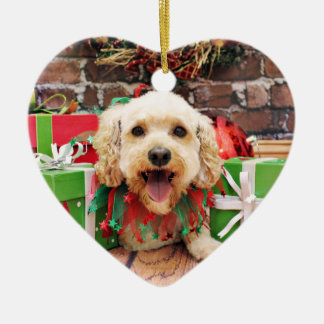 Christmas - Cockapoo - Trixie Ceramic Heart Ornament