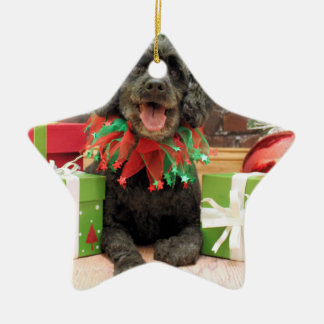 Christmas - Cockapoo - Trumbo Ceramic Star Ornament