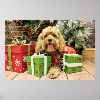 Christmas - Cockapoo - Wriggley Posters
