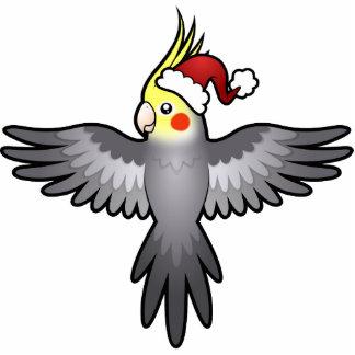 Christmas Cockatiel Photo Sculpture Ornament