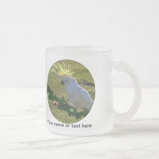 Christmas Cockatoo Bird in Australia 10 Oz Frosted Glass Coffee Mug