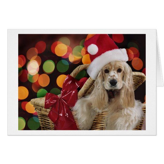 Christmas Cocker Spaniel Card