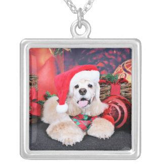 Christmas - Cocker Spaniel - Tobey Silver Plated Necklace