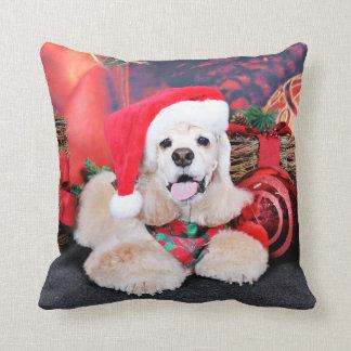 Christmas - Cocker Spaniel - Tobey Throw Pillow