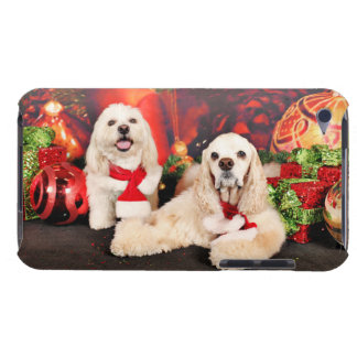 Christmas - Cocker - Toby, Havanese - Little T Barely There iPod Covers