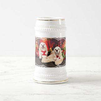 Christmas - Cocker - Toby, Havanese - Little T Beer Stein
