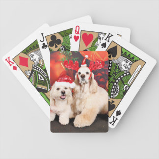 Christmas - Cocker - Toby, Havanese - Little T Bicycle Playing Cards