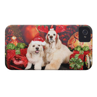 Christmas - Cocker - Toby, Havanese - Little T Case-Mate iPhone 4 Case