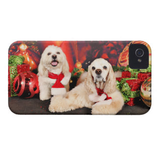 Christmas - Cocker - Toby, Havanese - Little T Case-Mate iPhone 4 Cases