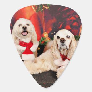 Christmas - Cocker - Toby, Havanese - Little T Guitar Pick