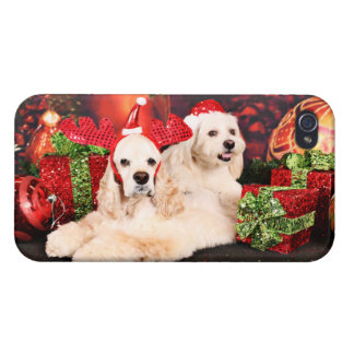 Christmas - Cocker - Toby, Havanese - Little T iPhone 4 Case