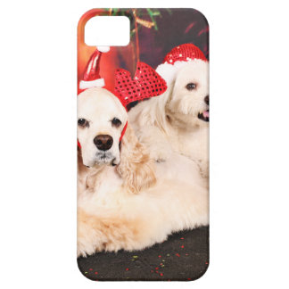 Christmas - Cocker - Toby, Havanese - Little T iPhone 5 Case