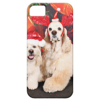 Christmas - Cocker - Toby, Havanese - Little T iPhone 5 Cover