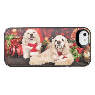 Christmas - Cocker - Toby, Havanese - Little T iPhone SE/5/5s Battery Case