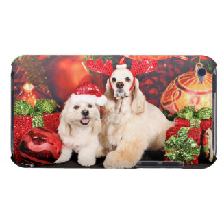 Christmas - Cocker - Toby, Havanese - Little T iPod Case-Mate Case