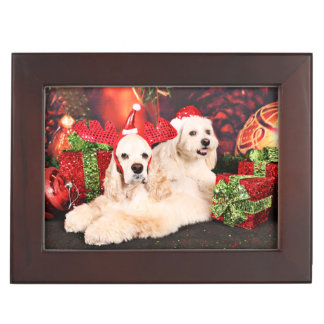Christmas - Cocker - Toby, Havanese - Little T Keepsake Box