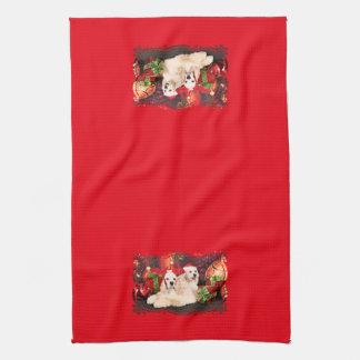 Christmas - Cocker - Toby, Havanese - Little T Kitchen Towel