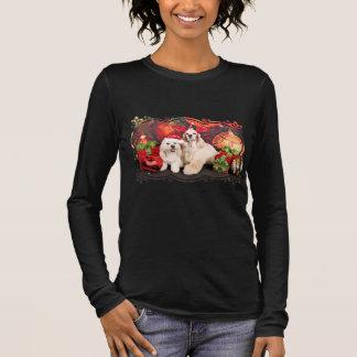 Christmas - Cocker - Toby, Havanese - Little T Long Sleeve T-Shirt