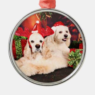 Christmas - Cocker - Toby, Havanese - Little T Metal Ornament