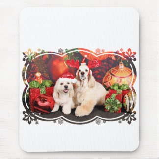 Christmas - Cocker - Toby, Havanese - Little T Mouse Pad