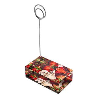 Christmas - Cocker - Toby, Havanese - Little T Place Card Holder
