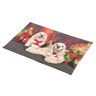 Christmas - Cocker - Toby, Havanese - Little T Placemat
