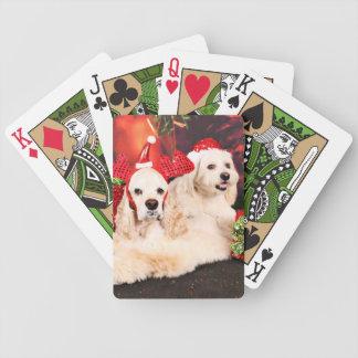 Christmas - Cocker - Toby, Havanese - Little T Poker Deck