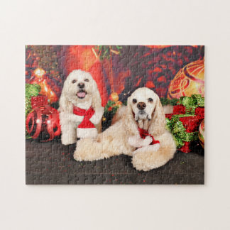 Christmas - Cocker - Toby, Havanese - Little T Puzzle