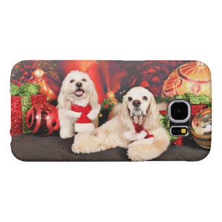 Christmas - Cocker - Toby, Havanese - Little T Samsung Galaxy S6 Cases