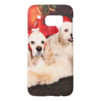 Christmas - Cocker - Toby, Havanese - Little T Samsung Galaxy S7 Case