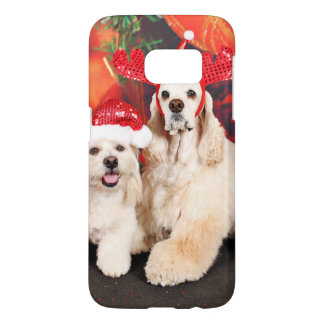 Christmas - Cocker - Toby, Havanese - Little T Samsung Galaxy S7 Case