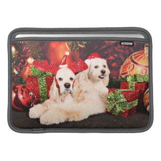 Christmas - Cocker - Toby, Havanese - Little T Sleeve For MacBook Air