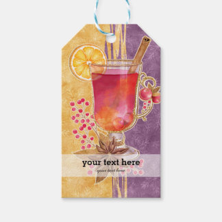 Christmas  cocktail gift tags