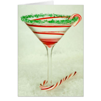 Christmas Cocktail Mrs. Claustini Card