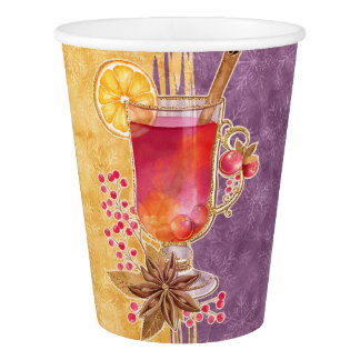 Christmas cocktail paper cup