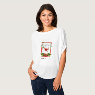 Christmas Cocktail Watercolor Art T-Shirt