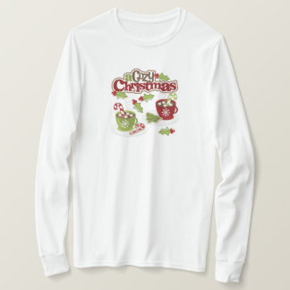 Christmas Cocoa & Candy Canes Long Sleeve T-Shirt
