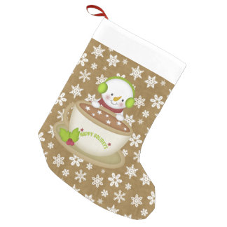Christmas Cocoa Snowman Holiday stocking