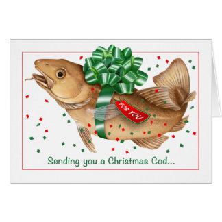 Christmas cod card