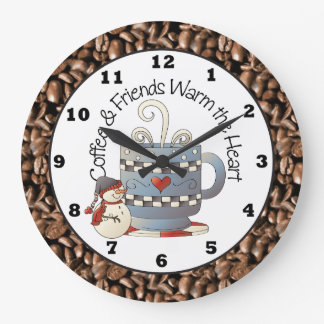 Christmas Coffee and Friends Holiday clock