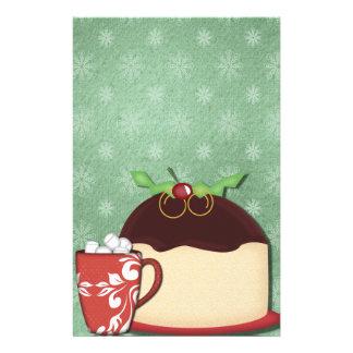 Christmas Coffee & Cake Customizable Customized Stationery