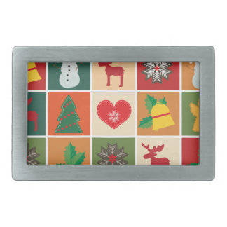 Christmas Collage Belt Buckles