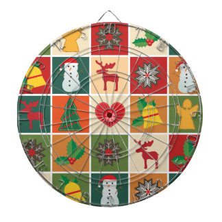 Christmas Collage Dartboard