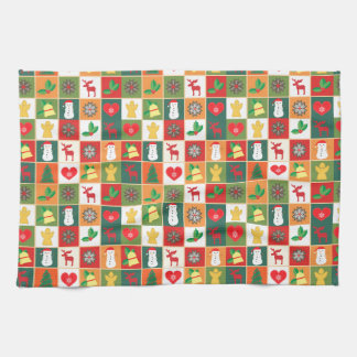 Christmas collage images kitchen towel