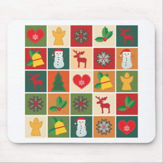 Christmas Collage Mouse Pad