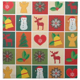 Christmas Collage Napkin