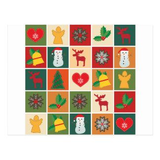 Christmas Collage Postcard