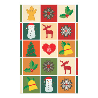 Christmas Collage Stationery