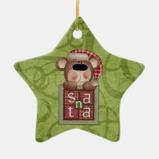 Christmas Collection Bear Santa Ceramic Ornament